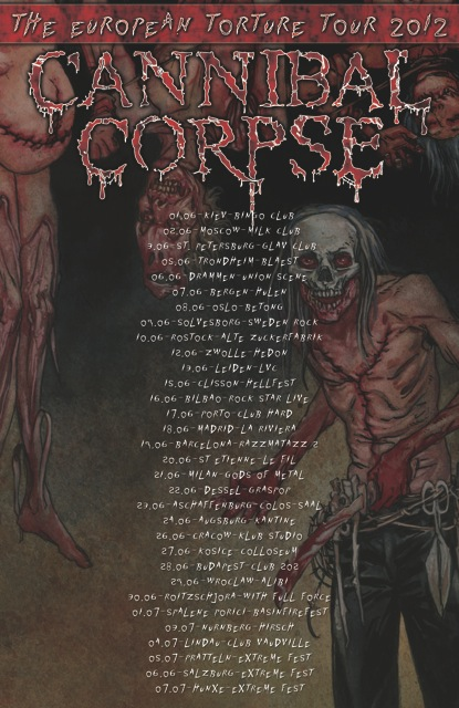 Cannibal Corpse European Tour 2012