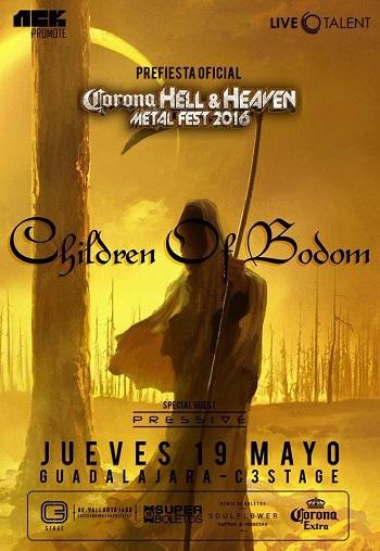 Children Of Bodom, en Guadalajara, México 2016