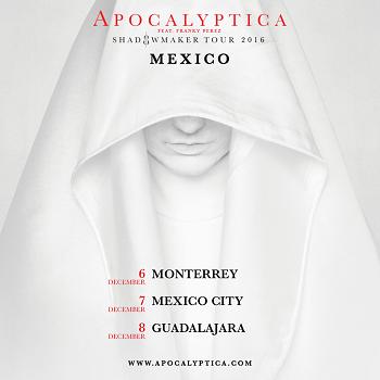 Apocalyptica en Guadalajara, Mexico 2016