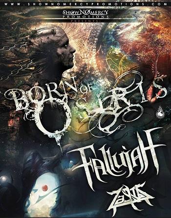 Born Of Osiris & Fallujah en Guadalajara, Mexico 2016