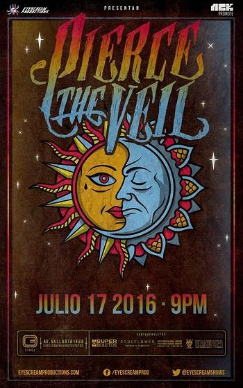 Pierce The Veil en Guadalajara, Mexico 2016