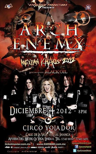 Arch Enemy en Mexico 2012