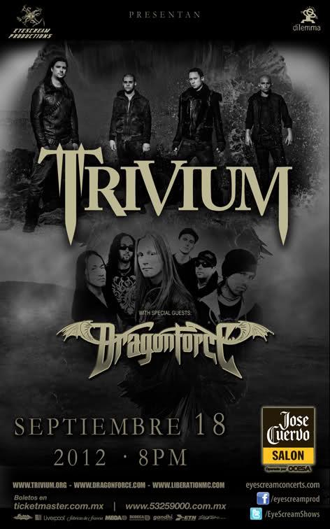Trivium y Dragon Force - Mexico 2012