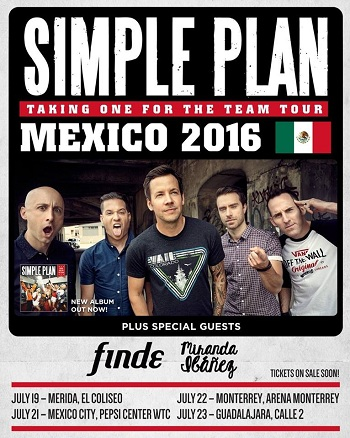 Simple Plan en Guadalajara, Mexico 2016