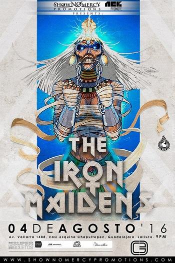 The Iron Maidens en Guadalajara, Mexico 2016