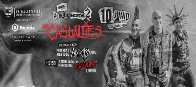 The Casualties en Guadajara, México 2016