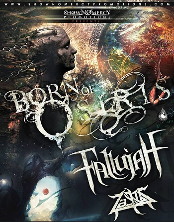 Born Of Osiris & Fallujah en Guadalajara, Mexico 2016