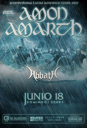 Amon Amarth en Guadalajara, México 2017