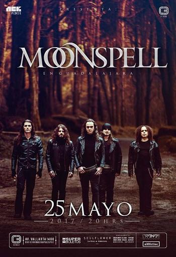 Moonspell en Guadalajara, México 2017