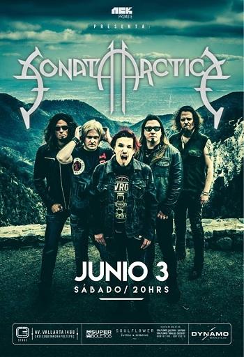 Sonata Arctica en Guadalajara, México 2017