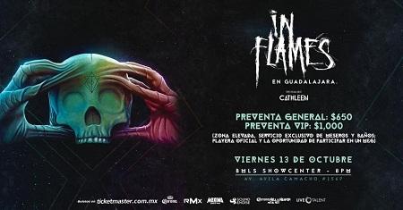 In Flames en Guadalajara, México 2017