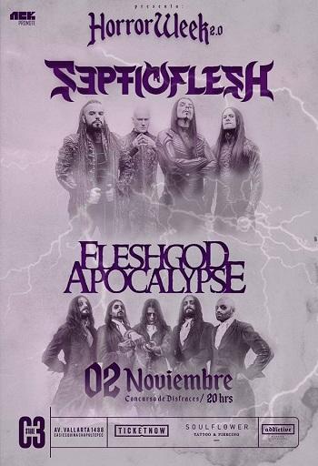 Septicflesh + Fleshgod Apocalypse en Guadalajara, México 2017